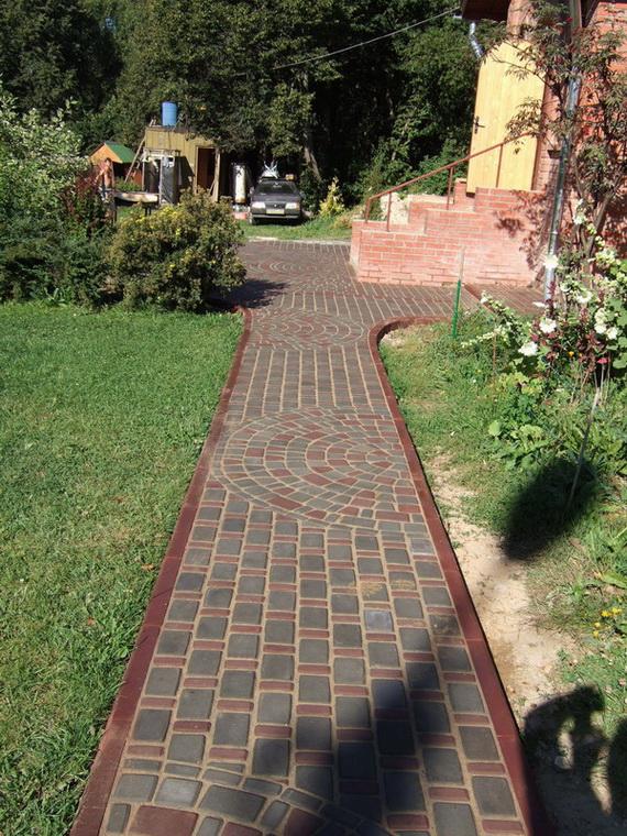 Тротуарная плитка для дорожек укладка